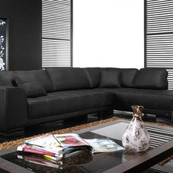 Unique Italian Leather Living Room Furniture - Extra padded seat cushions