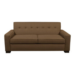 Lazar Industries - Nicole Full Sleeper Sofa in Keylargo Mink - Nicole Full Sleeper Sofa by Lazar Industries is a transitional style, perfect for a compact space, with handsome tufted buttons across the back.