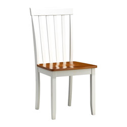 Boraam - Boraam Bloomington Dining Chair in White/Honey Oak [Set of 2] - Dining Chair in White/Honey Oak in the Bloomington Collection by Boraam Here you'll discover perfect chairs that are bound to contribute more to your home than a trendy piece of decor. All too often we're forced to sacrifice quality & comfort in return for style, but not here. Each chair is made with solid hardwood and precision construction. In addition, the contour seat combined with the rounded backrest give you a place to lean back and relax your derriere.  You can have this plus a much sought after, updated-classic look, by combining the decorous design of these chairs with your existing dining table. The smooth lines and handsome appearance will undoubtedly boost the ambience of any dining area.  Or completely rejuvenate your dining space by pairing the Bloomington chairs with the Blooming dining table and/or bench in a perfect-match color finish. Either way, you can't go wrong!
