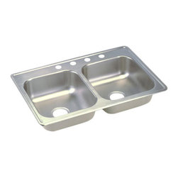 """Dayton - Elkay D233223  33"""" x 22"""" Dayton Sink - Elkay's D233223 is a 33"""" x 22"""" Dayton Sink. This sink is constructed from 22-gauge, 301 Series, nickel bearing stainless steel, and can be mounted on top of almost any surface."""