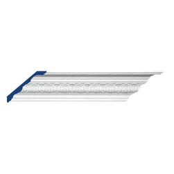 "Inviting Home - Madison Crown Moulding - 12 foot length - Madison decorative crown moulding 4-7/8""H x 7-3/16""P x 8-11/16""F x 12'00""L design repeat - 3-7/8"" 4 piece minimum order required crown molding specifications: - outstanding quality crown molding made from high density polyurethane: environmentally friendly material is hypoallergenic and fully recyclable no CFC no PVC no formaldehyde; - front surface of this molding has extra durable and smooth surface; - crown molding is pre-primed with water-based white paint; - lightweight durable and easy to install using common woodworking tools; - metal dies were used for consistent quality and perfect part to part match for hassle free installation; - this crown molding has sharp deep and highly defined design; - matching flexible molding available; - crown molding can be finished with any quality paints; Polyurethane is a high density material--it's extremely lightweight and easy to install (and comes primed and ready to paint). It is a green material meaning its CFC and formaldehyde free. It is also moisture resistant--so it won't shrink flex or mold. What's also great about Polyurethane is that it's completely customizable and can be treated as wood (you can saw it nail it screw it and sand it). In addition our polyurethane material comes primed and ready to paint. There is a four piece minimum requirement for this molding purchase."