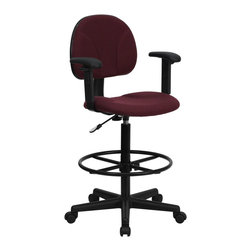 Flash Furniture - Flash Furniture Stool X-GG-SMRA-YB-956-TB - Drafting Stools can be used in a multitude of environments including School, Work and for the Home. Not only is this chair great for drafting and regular office assignments it is also useful for people with disabilities who need a higher chair. Drafting stools make it easier for the user when they need or prefer more height to comfortably get in and out of chairs. This chair will satisfy your needs at an affordable price that can't compare! [BT-659-BY-ARMS-GG]