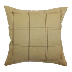 Pillow Collection Inc - The Pillow Collection Tambia Plaid Pillow - Beige Multicolor - P18-MVT-1099-BEIG - Shop for Pillows from Hayneedle.com! A handsome choice. The Pillow Collection Tambia Plaid Pillow - Beige is made of 70% polyester and 30% cotton with plaid pattern set against a beige background. It brings a London afternoon tea feeling to your living room. Its elegant feather and down fill holds its shape perfectly. Dry clean only.About The Pillow CollectionIdentical twin brothers Adam and Kyle started The Collection with a simple objective. They wanted to create an extensive selection of beautiful and affordable throw pillows. Their father is a renowned interior designer and they developed a deep appreciation of style from him. They hand select all fabrics to find the perfect cottons linens damasks and silks in a variety of colors patterns and designs. Standard features include hidden full-length zippers and luxurious high polyester fiber or down blended inserts. At The Pillow Collection they know that a throw pillow makes a room.