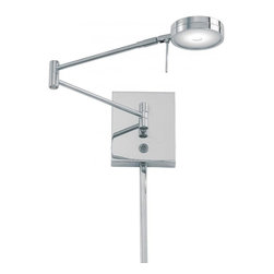 Minka George Kovacs - Minka George Kovacs George's Reading Room - This One Light Wall Light has a Chrome Finish and a Metal Shade. It is LED.