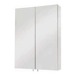 Croydex - Anton Double Door Medicine Cabinet - WC756105 - Manufacturer SKU: WC756105YW. 120 degree hinge, increases accessibility. 120 degree hinge, increases accessibility. Chrome plated pin handle (avoids finger marks on mirror). Internal MDF cabinet carcass increases strength. Easy to install. All fittings included. 19.69 in. W x 4.72 in. L x 26.38 in. HA neat 2 door cabinet that holds all the bathroom essentials, despite its slimline style. Great storage space and some clever design features - great for every bathroom!
