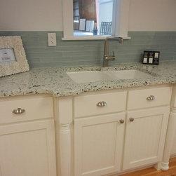 Kitchen Installs - Palladian Gray, Recycled Glass Countertops, Vetrazzo