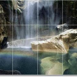 Picture-Tiles, LLC - Waterfalls Photo Kitchen Tile Mural W091 - * MURAL SIZE: 18x24 inch tile mural using (12) 6x6 ceramic tiles-satin finish.