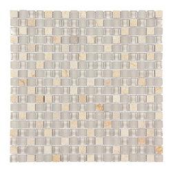 Stone & Co - Stone & Co Mosaic Glass and Stone Mix 5/8 x 5/8 Glass Mosaic Tile Mag 4440 SQ - Finish: Polished / Shiny / Matt