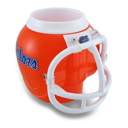 Zeckos - Florida Gators Helmet FanMug Drink Holder w/Removable Cup - This awesome Florida Gators mug is perfect for Gators fans to show their support for their favorite team while enjoying their favorite beverage This officially licensed 5 inch high, 5 inch long, 6 inch wide (13 X 13 X 15 cm) plastic helmet shaped mug holds 13.5 ounces of hot or cold beverages, and features a removable cup to hold cans or bottles, too The cup is dishwasher safe and BPA-free while the helmet is recommended to hand wash only. Place it on your desk as a pen/pencil holder, use it on game day or everyday, and it's a great gift any Gators fan is sure to appreciate and enjoy