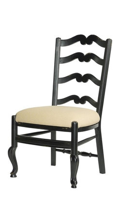 EuroLux Home - Set 6 New Dining Side Chair Ladderback Consigned Antique - Product Details