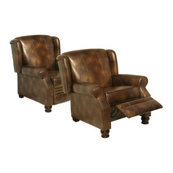 Catnapper - Colby Toast Leather Reclining Chair - 5530 - Colby Collection