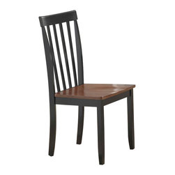 Boraam - Boraam Bloomington Dining Chair in Black/Cherry (Set of 2) - Boraam - Dining Chairs - 21031 - Here you'll discover perfect chairs that are bound to contribute more to your home than a trendy piece of decor. All too often we're forced to sacrifice quality & comfort in return for style but not here. Each chair is made with solid hardwood and precision construction. In addition the contour seat combined with the rounded backrest give you a place to lean back and relax your derriere.  You can have this plus a much sought after updated-classic look by combining the decorous design of these chairs with your existing dining table. The smooth lines and handsome appearance will undoubtedly boost the ambience of any dining area.  Or completely rejuvenate your dining space by pairing the Bloomington chairs with the Blooming dining table and/or bench in a perfect-match color finish. Either way you can't go wrong!