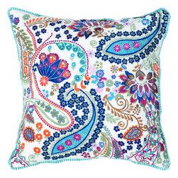 """Rizzy - Rizzy T04376 Pillow, 18"""" x 18"""" - Pillow with Hidden Zipper"""