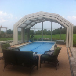 Indoor Pool Setting with our Retractable Pool Enclosures