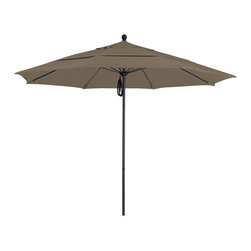 California Umbrella - 11 Foot Sunbrella Fabric Aluminum Pulley Lift Patio Umbrella, Bronze Pole - California Umbrella, Inc. has been producing high quality patio umbrellas and frames for over 50-years. The California Umbrella trademark is immediately recognized for its standard in engineering and innovation among all brands in the United States. As a leader in the industry, they strive to provide you with products and service that will satisfy even the most demanding consumers.