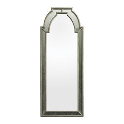 "Lazy Susan - Lazy Susan 114188 Arched Framed Wall Mirror - This mirror stands 68"" tall and can be wall mounted or used as a leaning mirror. The mirror is mounted in an antique mirror surround and bronze metal frame."