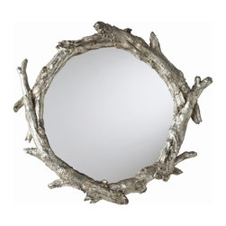 Arteriors - Arteriors 9655 Oakley Mirror - Arteriors 9655 Oakley Mirror made with Antique Silver Resin/Plain Mirror.