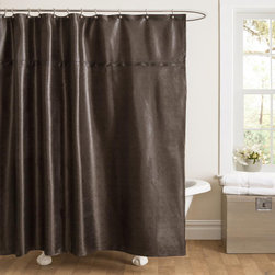 Lush Decor - Lush Decor Rylee Shower Curtain - Bring a contemporary touch to your bathroom with the Lush Decor Rylee shower curtain. Rylee has the appearance of fine grain leather yet it has a soft touch and feel.