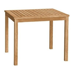 """Brunswick Teak 36"""" Square Dining Table - The Brunswick table offers exceptional value for a high quality dining table that can be used with any of three birds chairs or backless benches."""