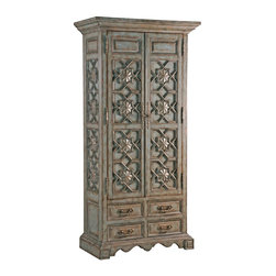 Ambella Home - New Ambella Home Tall Cabinet Medallion - Product Details