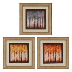 Paragon - Winds PK/3 - Framed Art - Each product is custom made upon order so there might be small variations from the picture displayed. No two pieces are exactly alike.