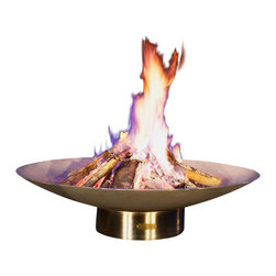 Home Infatuation - Bella Vita Stainless Steel Fire Pit - Keep the fires lit this winter with a contemporary fire pit designed by Rick Wittrig. It's high quality, handmade and built to last. The open design provides enough space for everyone to roast their marshmallows.