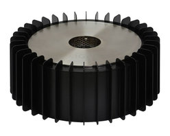 """Ignis Fireplaces - Ignis EBG300, Fireplace Grate - Put an end to the mess and the fuss of using a wood-burning fireplace by inserting this Ethanol Fireplace Grate into your existing unit. This sleek round burner insert and grate set uses eco-friendly ethanol so you won't experience any of the soot ash or gas release that is associated with burning wood while still enjoying the look and atmosphere of an open flame. It holds three full liters of ethanol fuel which is enough to burn for a full 13.5 hours before another refill is required. This 5 000-BTU burner is sufficiently sized for heating an average-sized room without the need for a chimney or special ventilating system. Dimensions: Grate: 14.5"""" x 14.5"""" x 6"""". Burner: 11"""" x 11"""" x 4.5""""."""