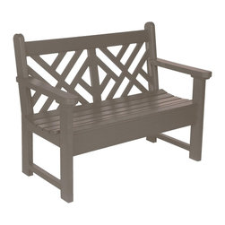 "Eagle One - Eagle One 4 Ft Chippendale Bench - ""The Chippendale is a classic English garden style. Durable for commercial and public outdoor areas, sophisticated for any architectural compliment; environmentally stress resistant, yet suitable for indoor use as well.Dimensions (W x L x D): 50"""" x 40"""" x 43"""" (110 LBS)Material: HDPE Recycled Plastic LumberMade in the USAColor listed is for seat color and not the actual material of the wood"""