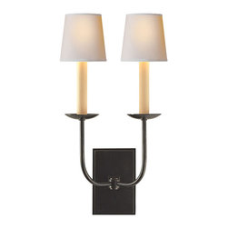Visual Comfort & Co. - Visual Comfort & Co. SL2861BZ E.F. Chapman Tt 2-Light Wall Sconces in Bronze - This 2 light Decorative Wall Light from the E.F. Chapman TT collection by Visual Comfort will enhance your home with a perfect mix of form and function. The features include a Bronze with Wax finish applied by experts. This item qualifies for free shipping!