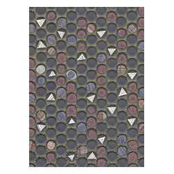 Domestic Construction - Dot Dot Dot Floor Mat, Small - Try connecting the dots on this artful floor mat. Its original collage-like design is machine washable, making it perfectly suited for everyday use. And the rubber backing will keep it in place day after day.