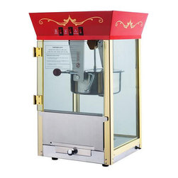 None - Red 6091 Matinee Movie 8-oz Antique Popcorn Machine - An antique movie popcorn machine makes movie night at home a special occasion. This commercial-grade machine with a carnival design comes with a measuring cup,popcorn scoop,and fifty bags to replicate an authentic movie-going experience.