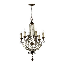"""Cyan Design - Cyan Design Meriel Six Light Chandelier - Our lighting collection from Cyan Designs features a wide range of styles from modern to classic. Well-made and versatile, it's a great solution for your lighting needs. Cyan Design Meriel 6lt Chandelier. 23""""(w) x 38""""(h). UL approved. Assembly Required. Bulbs not included. 60 Watts."""