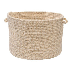 Colonial Mills - Colonial Mills Tremont Storage Basket - 18 diam. x 12 in. - TE09A018X018 - Shop for Baskets from Hayneedle.com! Sturdy versatile and able to match any decor the Colonial Mills Tremont Storage Basket - 18 diam. x 12 in. can be used to carry books magazines toys or linens and beach towels. It comes with two easy grip handles. About Colonial MillsThe resurgent popularity of braided texture comes as no surprise to Colonial Mills Inc. (CMI). For the past several years CMI has developed new colors and styles that will capture the home decorating imagination of just about anyone. CMI considers a braid as a method of construction not a style. Braided construction adds a distinctive look and premium durability to rug styles ranging from contemporary to traditional. Creating exceptional rugs and providing superior customer service is a team effort at CMI proudly recognized as a trusted supplier to the best-known retailers in the United States today.