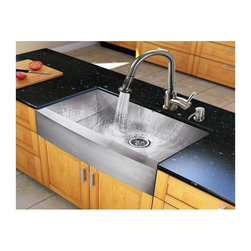 Vigo Industries - 36 in. Steel Kitchen Sink and 15.13 in. Faucet Set - Breathe new life into your kitchen with a VIGO All in One Kitchen Set.