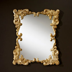 Decora Anna Gold Mirror - Deknudt Mirrors - The frame is finished in gold leaf with a white patina