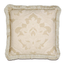 Frontgate - Brookfield Brushed Fringe Pillow - Soft, neutral shades of taupe and ivory. Dry clean only recommended. Because this bedding is specially made to order, please allow 4-6 weeks for delivery.. Bring an air of refined elegance to your home with our Brookfield Bedding Collection.  .  . . Made in USA of imported goods. Part of the Brookfield Bedding Collection.