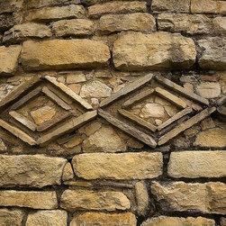 Magic Murals - Pre-Inca Designs Stone Wall Wallpaper Wall Mural - Self-Adhesive - Multiple Size - Pre-Inca Designs Stone Wall Wall Mural