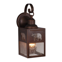 Vaxcel Lighting - Vaxcel Lighting OW35053 Bozeman 1 Light Outdoor Wall Sconce - Features: