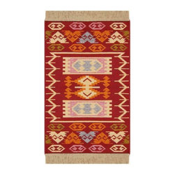 Reversible Authentic Kilim Rug / Size Size 2'x3' - Rug of Ages  (Butterfly) - Brand: Rugs of Ages