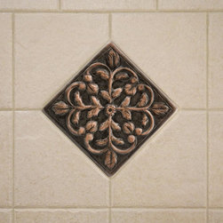 Solid Copper Wall Tile with Dogwood Flower Design - Handcrafted from solid copper, this wall tile features a charming dogwood flower design that will add style and personality to your kitchen.