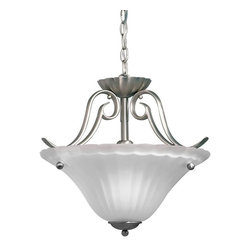 Kichler - Kichler Willowmore Semi-Flush Mount Ceiling Fixture in Brushed Nickel - Shown in picture: Semi Flush 1Lt in Brushed Nickel