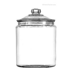 Anchor Hocking Large Covered Glass Jar - This cookie jar would be perfect sitting on top of a counter surrounded by other '50s-inspired goodies.