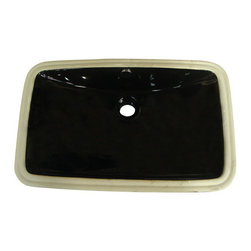 """Kingston Brass - Black China Undermount Bathroom Sink with Overflow Hole - Finest china material made undermount sink is perfect way to bring a bright new look to your bathroom.; High chemical and thermal shock resistance; Stain resistant and easy-to-clean; Standard 1-7/8""""-�recessed drain hole; For undercounter installation; Drain not included; Material: Ceramic; Finish: Black Finish; Collection: Forum"""