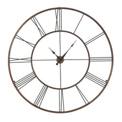 "Home Accessories - This stylish clock has rustic and modern qualities. Dramatic in size. 50"" Dia."