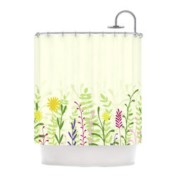 English Bouquet Shower Curtain - An easy way to update a bathroom? Replace your boring shower curtain with a bold, graphic one. Like this limited-edition Emma Hawman shower curtain. The bright, cheery florals are a modern take on a quaint English garden.