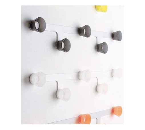 Big 5 Modern Coat Rack - Simple dots become useful hooks in this modern take on a coat rack.
