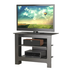 Nexera - Nexera Pinnacle 31-Inch Tall Boy TV Stand - Pinnacle 31-inches Tall Boy TV Stand with black textured lacquer finish features 2 shelves with 1 adjustable and an open design allowing for easy cable management and optimal air flow. The Pinnacle Collection from Nexera offers a wide selection of TV stands and audio towers of different finishes and designs so you can organise your entertainment area in style and simplicity.