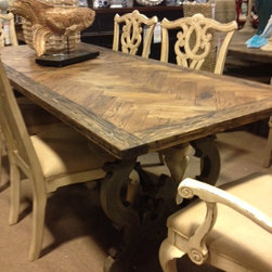 Vintage Furniture - Parquet Top Table