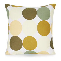 """Blooming Home Decor - Olive & Sage Green Polka Dot Pillow Cover 18""""x18"""" - - 18"""" square"""