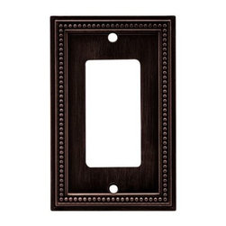 Liberty Hardware - Liberty Hardware 64405 Beaded WP Collection 3.19 Inch Switch Plate - Venetian Br - The Beaded design adds elegance and sophistication to every room. The Venetian Bronze finish brings distinguished style and grace to any room. Quality zinc die cast base material. Available in the 10 most popular wall plate configurations.. Width - 3.19 Inch,Height - 5 Inch,Projection - 0.3 Inch,Finish - Venetian Bronze,Weight - 0.28 Lbs